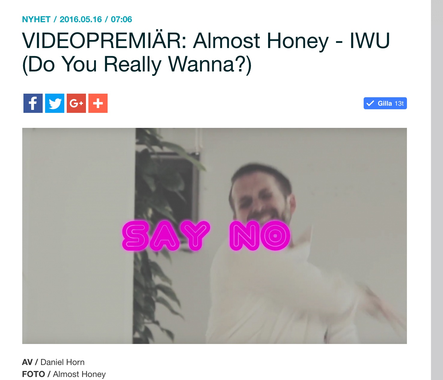 VIDEOPREMIÄR__Almost_Honey_-_IWU__Do_You_Really_Wanna__